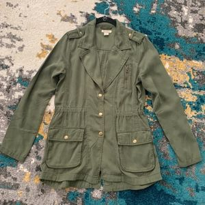 Lucky Brand Green Utility Blazer Jacket. Small